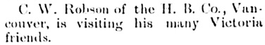 """""""Personal,"""" Victoria Daily Colonist, April 25, 1890, page 6; http://archive.org/stream/dailycolonist18900425uvic/18900425#page/n5/mode/1up."""