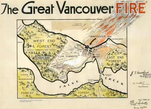 Great Vancouver Fire - Vancouver City Archives - AM1562 - 75-54; http://searcharchives.vancouver.ca/great-vancouver-fire;rad