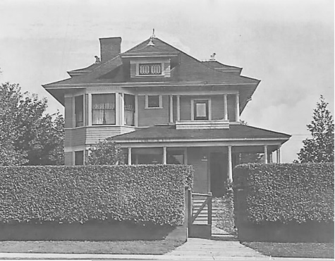1835 Barclay Street, about 1912. Photograph courtesy of Myrna Singer.