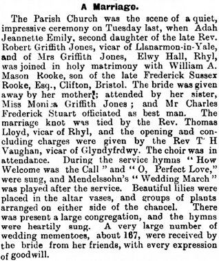 Rhyl Journal, August 4, 1900, page 2, column 6; http://newspapers.library.wales/view/3626072/3626074/19/.