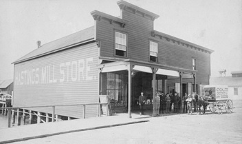 Hastings Mill Store, about 1888, Vancouver City Archives, Mi P14; http://searcharchives.vancouver.ca/index.php/hastings-mill-store-2