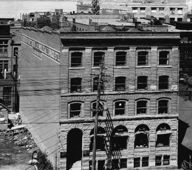 Henderson Brothers Wholesale Druggists building at 125 West Pender Street, 1909 [detail]; Vancouver City Archives, Van Sc P57.2; http://searcharchives.vancouver.ca/henderson-brothers-wholesale-druggists-building-at-125-west-pender-street.