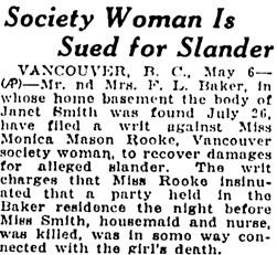 Oakland Tribune, Oakland, California, May 6, 1925, page 7, column 5.