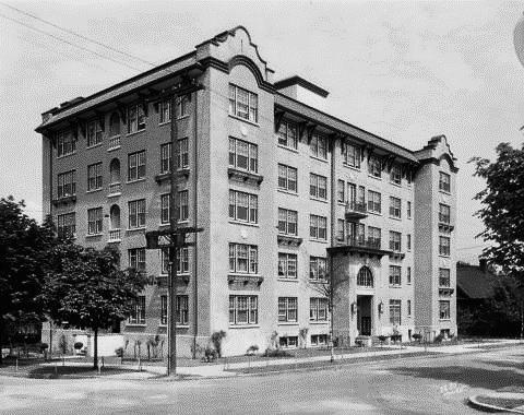 Queen Charlotte Apartments, 1101 Nicola Street, 1928, Vancouver City Archives, Bu N261.2; http://searcharchives.vancouver.ca/index.php/queen-charlotte-apartments-at-1101-nicola-street-3.