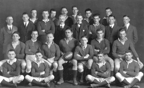 Richard Bell-Irving, second row from top, wearing bow tie, Vancouver Rep. Rugby Team, Vancouver City Archives, AM54-S4-2-: CVA 371-806, 1920 or 1921, http://searcharchives.vancouver.ca/vancouver-rep-rugby-team