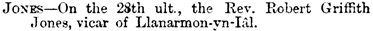 Wrexham Guardian, April 12, 1879, page 5, column 4; http://newspapers.library.wales/view/3854964/3854969/27/.