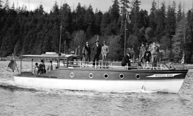 """Whistle Wing"" launch owned by Mr. Mason Rooke, 1930; City of Vancouver Archives; CVA 99-2447; http://searcharchives.vancouver.ca/whistle-wing-launch-owned-by-mr-mason-rooke. [cropped]."