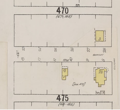 1900 Block Barclay Street – Detail from Insurance plan – City of Vancouver, July 1897, revised June 1903 – Sheet 43 – Coal Harbour to Comox Street and Bidwell Street to Stanley Park
