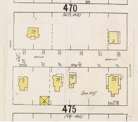 1900 Block Barclay Street - Detail from Insurance plan - City of Vancouver, July 1897, revised June 1903 - Sheet 43 - Coal Harbour to Comox Street and Bidwell Street to Stanley Park