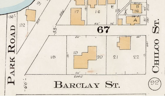 2000 Block Barclay Street - North side - Detail from Goad's Atlas of the city of Vancouver – 1912 – Vol 1 – Plate 7 – Coal Harbour to Barclay Street and Cardero Street to Stanley Park