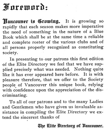 Elite Directory of Vancouver, 1908, page 3, https://archive.org/stream/cihm_75463#page/n12/mode/1up