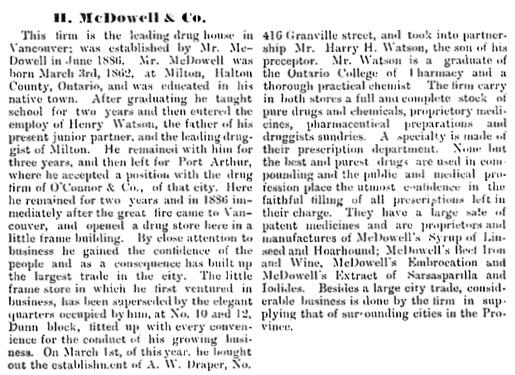 H. McDowell and Company, Vancouver World Special Edition, 1891, page 18; https://open.library.ubc.ca/collections/bcbooks/items/1.0222268#p35z-2r0f:
