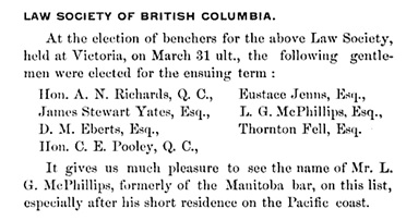 The Western Law Times of Canada, Volume 2, 1891, page 20; https://books.google.ca/books?id=gnwuAAAAIAAJ&dq=%22lewis+griffith+mcphillips%22+OR+%22l.+g.+mcphillips%22&source=gbs_navlinks_s