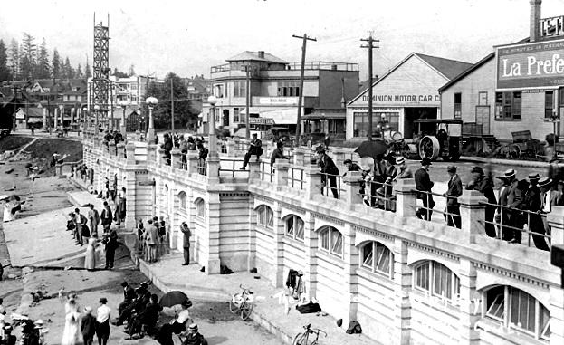 Beach Avenue - Beach House Club - Dominion Motor Car - Imperial Roller Rink - Postcard - about 1911-1912
