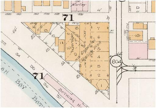 Detail from Goad's Atlas of the city of Vancouver - 1912 - Vol 1 - Plate 8 - Barclay Street to English Bay and Cardero Street to Stanley Park