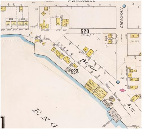 Detail from Insurance plan - City of Vancouver, July 1897, revised June 1903 - Sheet 45 - Comox Street to English Bay and Bidwell Street to Stanley Park
