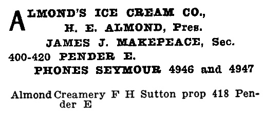 Henderson's Greater Vancouver Directory, 1912, Part 1, page 522.
