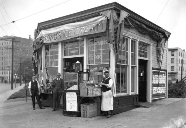 [Almond's Ice Cream] Store, English Bay - AM1535 - CVA 99-3097