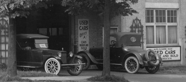 Auto Clearing House - West Georgia St - about 1921 - detail - City of Vancouver Archives - CVA 99-5301; http://searcharchives.vancouver.ca/auto-clearing-house-used-cars-bought-and-sold-georgia-st-w.