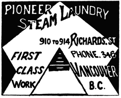 Pioneer Steam Laundry - Henderson's BC Gazetteer and Directory - 1900-1901 - page 643