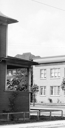 1800 Nelson Street - left side - detail from Vancouver City Archives - Str N267-2 [View of the corner of Denman Street and Nelson Street] date 1928; http://searcharchives.vancouver.ca/view-of-corner-of-denman-street-and-nelson-street;rad