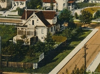 1900 Comox Street - about 1910 - detail from postcard - Gilford Street - Vancouver BC - Valentine and Sons Publishing Co