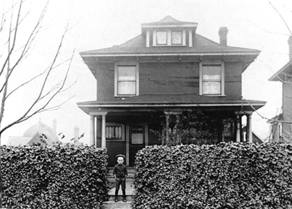 1928 Nelson Street [George Wilson Hobson, circa 1907, in front of the house where he was born, 1928 Nelson Street, Vancouver, B.C.]; https://sites.google.com/site/barrsusan/img008.jpg.