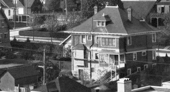 1946 Comox Street - Detail from [Houses on the north side of the 1900 Block of Pendrell Street] - AM54-S4-2 - CVA 371-723