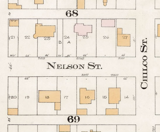 2000 Block Nelson Street - Detail from Goad's Atlas of the city of Vancouver - 1912 - Vol 1 - Plate 8 - Barclay Street to English Bay and Cardero Street to Stanley Park
