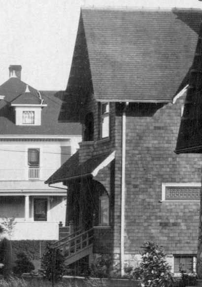 2000 Nelson Street - detail from Vancouver City Archives - PAN P103 - [View of the 1900 Block and 2000 Block of Nelson Street]; AM54-S4-: PAN P103; date 1908