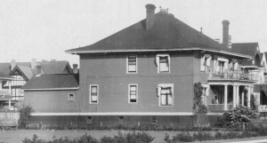 2001 Nelson Street - about 1908 - detail from Vancouver City Archives - PAN P103 - [View of the 1900 Block and 2000 Block of Nelson Street]; http://searcharchives.vancouver.ca/view-of-1900-block-and-2000-block-of-nelson-street