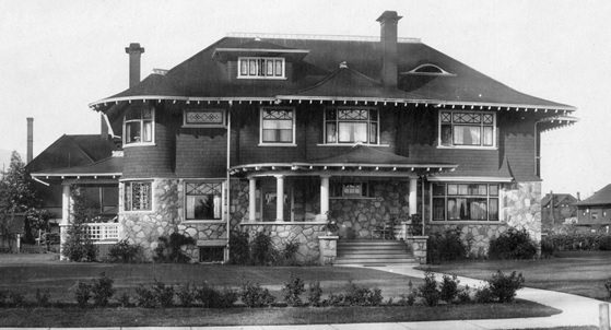 2075 Nelson Street - 1908- detail from Vancouver City Archives - PAN P103 - [View of the 1900 Block and 2000 Block of Nelson Street]; http://searcharchives.vancouver.ca/view-of-1900-block-and-2000-block-of-nelson-street;rad