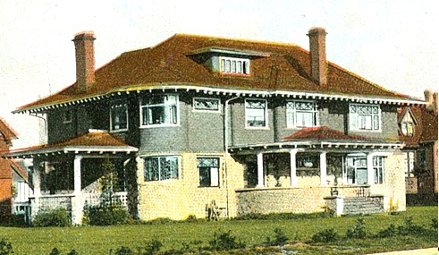 2075 Nelson Street - about 1910 - detail from postcard Types of Homes - Vancouver BC