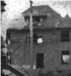 821 Denman Street - under construction - detail from C T W Piper [in front of his] residence - 1768 Robson Street - City of Vancouver Archives - CVA 466-2