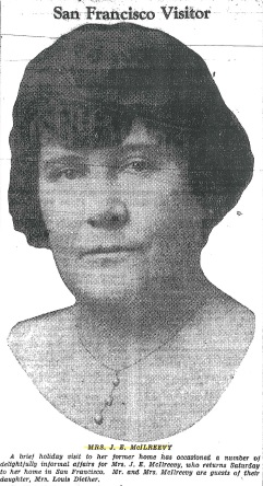 "Emma Frances McIlreevy - ""San Francisco Visitor,"" Vancouver Sun, July 9, 1931, page 8"