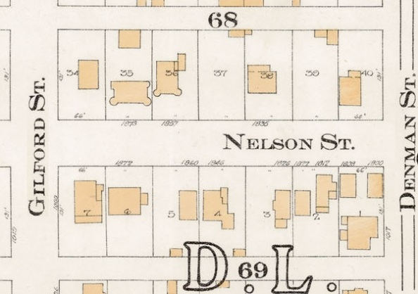 1800 Block Nelson Street - Detail from Goad's Atlas of the city of Vancouver - 1912 - Vol 1 - Plate 8 - Barclay Street to English Bay and Cardero Street to Stanley Park