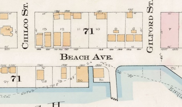 1900 Block Beach Avenue - Detail from Goad's Atlas of the City of Vancouver – 1912 – Vol 1 – Plate 8 – Barclay Street to English Bay and Cardero Street to Stanley Park