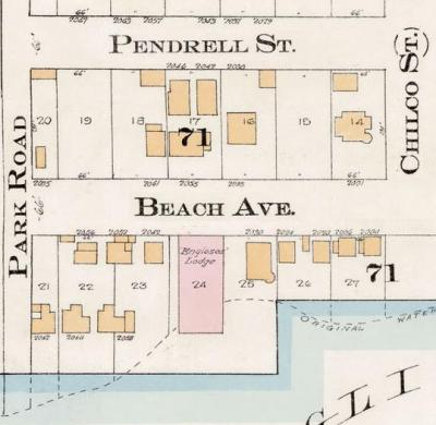 2000 Block Beach Avenue - Detail from Goad's Atlas of the city of Vancouver - 1912 - Vol 1 - Plate 8 - Barclay Street to English Bay and Cardero Street to Stanley Park