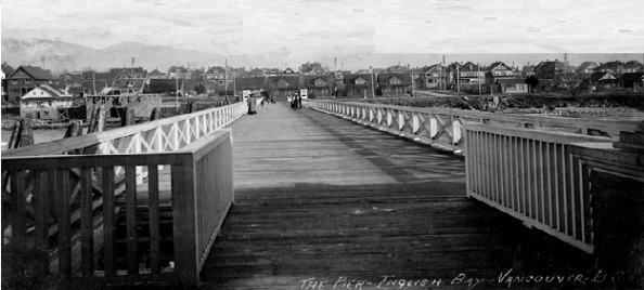Beach Avenue from English Bay Pier - about 1909
