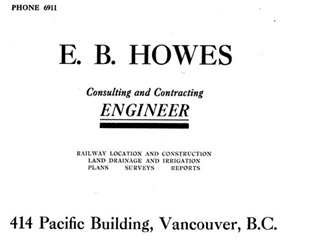 E B Howes advertisement - Henderson's Greater Vancouver Directory - 1911 - Part 1 - page 182