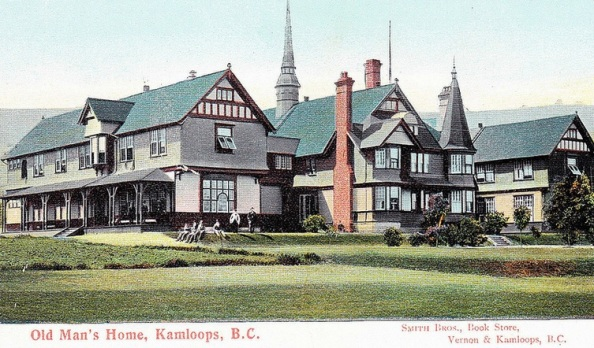Provincial Home for Old Men - Kamloops, British Columbia - Robert Mackay Fripp; postcard; https://www.flickr.com/photos/45379817@N08/11344496334/in/photostream/