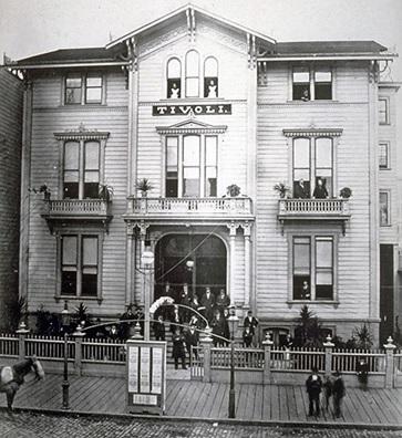 Tivoli Theater, San Francisco, http://cavallicafe.com/cavalli%20cafe%20images/Tivoli-Opera-House1878.jpg; http://cavallicafe.com/cavalli_history6.html