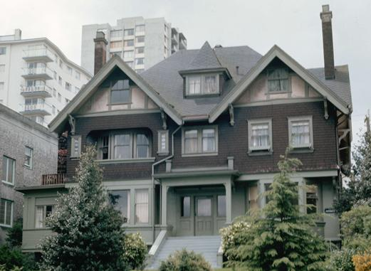 1860 Robson Street - Detail from City of Vancouver Archives CVA 780-423 - between 1960 and 1980; http://searcharchives.vancouver.ca/house-at-1860-robson-street;rad