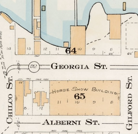 1900 Block Georgia Street - Detail from Goad's Atlas of the city of Vancouver – 1912 – Vol 1 – Plate 7 – Coal Harbour to Barclay Street and Cardero Street to Stanley Park