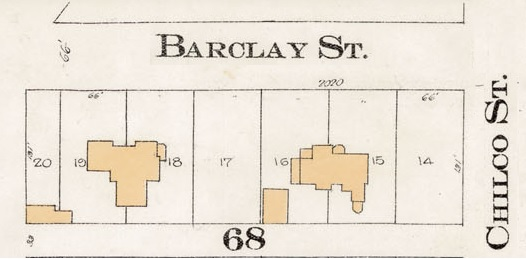 2000 Block Barclay Street - South side - Detail from Goad's Atlas of the city of Vancouver – 1912 – Vol 1 – Plate 8 – Barclay Street to English Bay and Cardero Street to Stanley Park