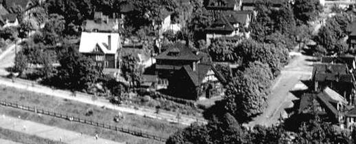 2000 Block Haro Street - Lagoon Drive - Chilco Street - Detail from Vancouver City Archives – Van Sc P15 – Vancouver B C – looking east from Lost Lagoon - about 1931; http://searcharchives.vancouver.ca/vancouver-b-c-from-air-looking-east-from-lost-lagoon;rad