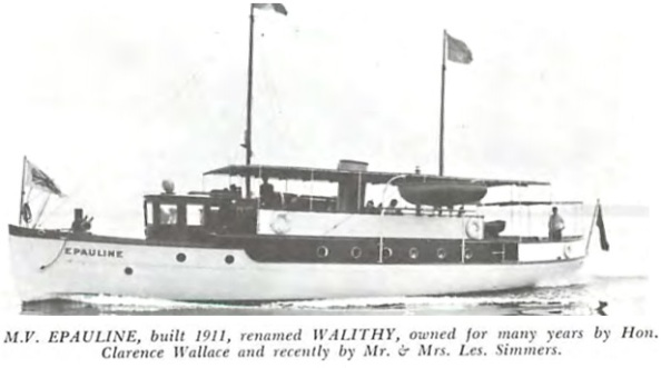 Epauline, Annals of the Royal Vancouver Yacht Club, page 90, http://www.royalvan.com/files/Annals_Section3_Racing.pdf.