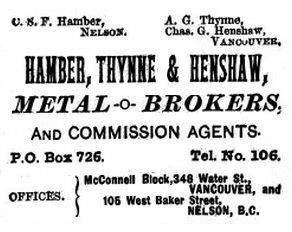 Henderson's BC Gazetteer and Directory - 1891 - page 418