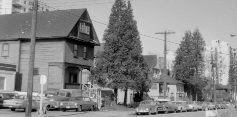 1816 Alberni Street at left: 1800 Block Alberni Street – south side – detail from City of Vancouver Archives – CVA 1348-21 – 1816 Alberni at Denman – date 1968; http://searcharchives.vancouver.ca/1816-alberni-at-denman;rad.
