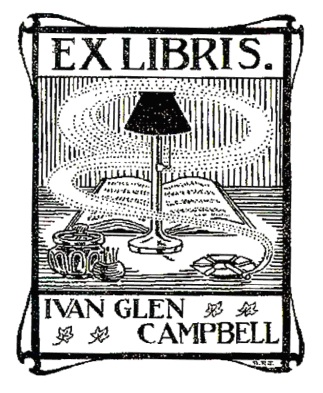Ivan Glen Campbell, Bookplate: http://digitalcollections.library.ubc.ca/cdm/ref/collection/bookplate/id/86; http://prl.lib.hku.hk/exhibits/show/prdla/detail-record?itemid=344440